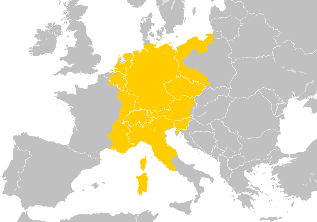 Map of Holy Roman Empire